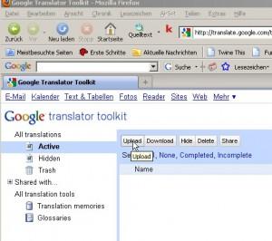 Mehr über das Google Translator Toolkit (I) | CAT-blog de